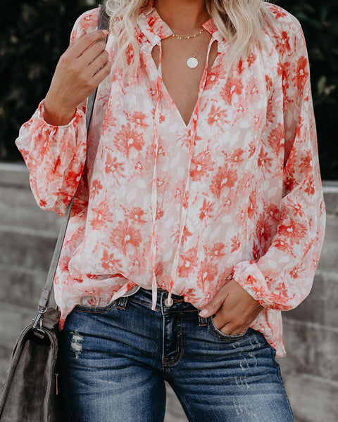 Lotus Floral Blouse