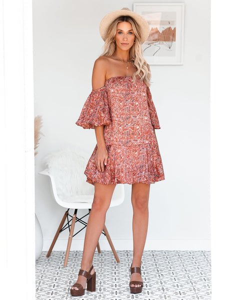Louisiana Off The Shoulder Puff Sleeve Dress