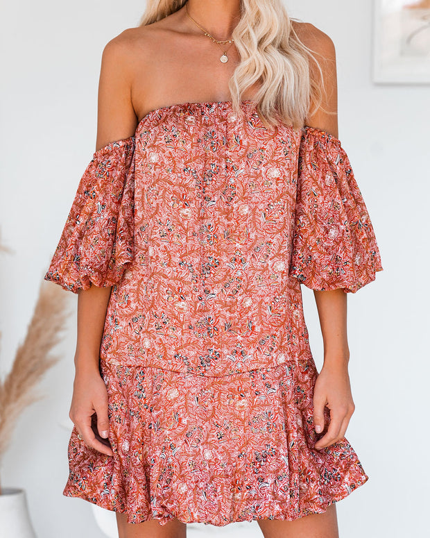 Louisiana Off The Shoulder Puff Sleeve Dress  - FINAL SALE