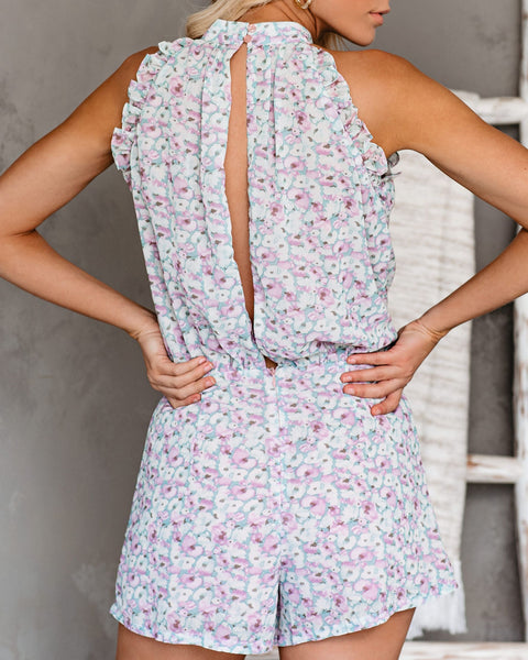 Louvre Floral Pocketed Romper