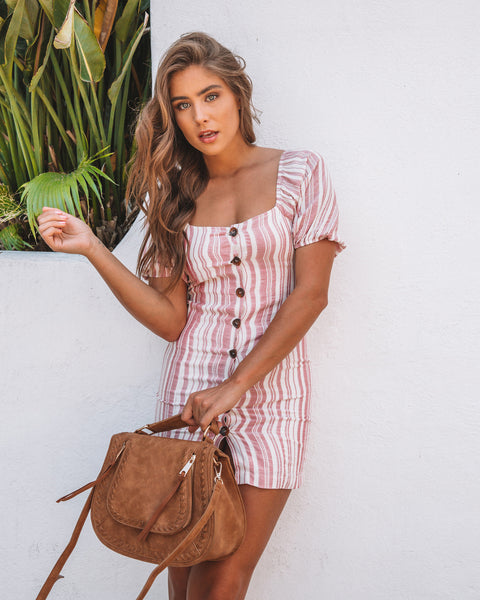 Heaven On Earth Off The Shoulder Button Up Dress