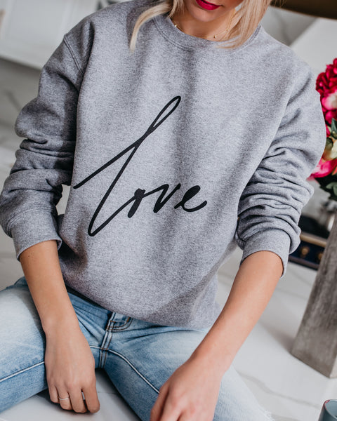 Love Cotton Blend Sweatshirt
