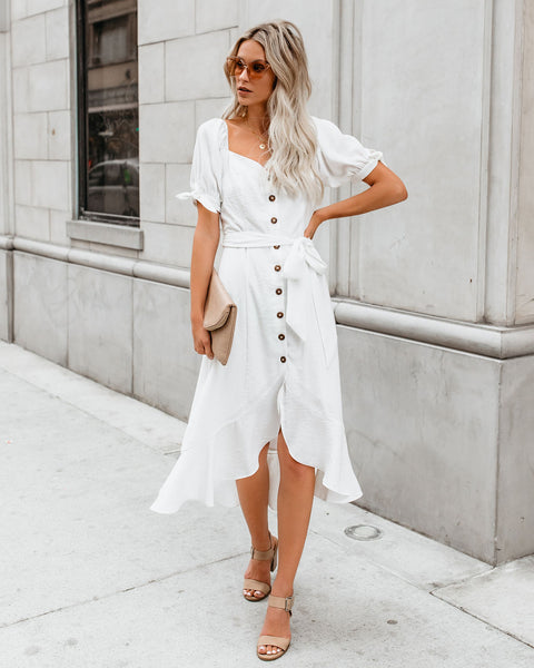 Love Galore Button Down Midi Dress