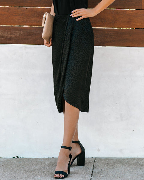 Love-Hate Relationship Embossed Leopard Skirt - FINAL SALE