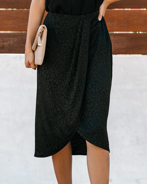 Love-Hate Relationship Embossed Leopard Skirt