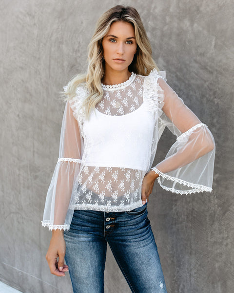 Love Is All You Need Lace Blouse