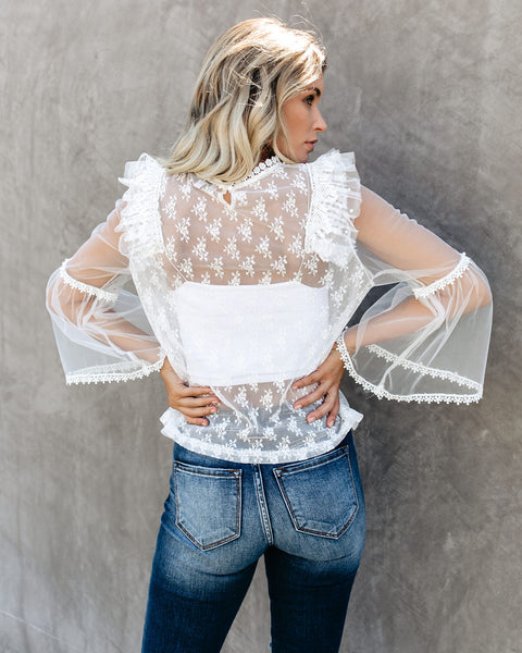 Love Is All You Need Lace Blouse - FINAL SALE