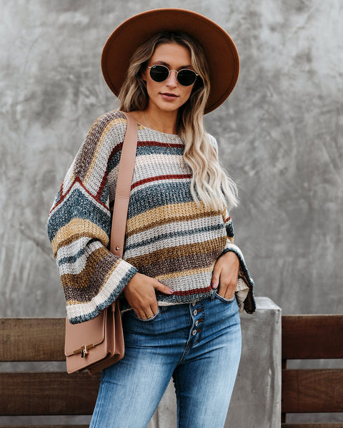 Lovely Weather Striped Relaxed Sweater