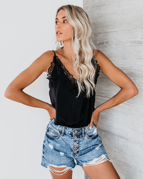 PREORDER - Lovers + Dreamers Lace Bodysuit - Black