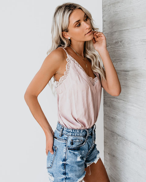 Lovers + Dreamers Lace Bodysuit - Taupe