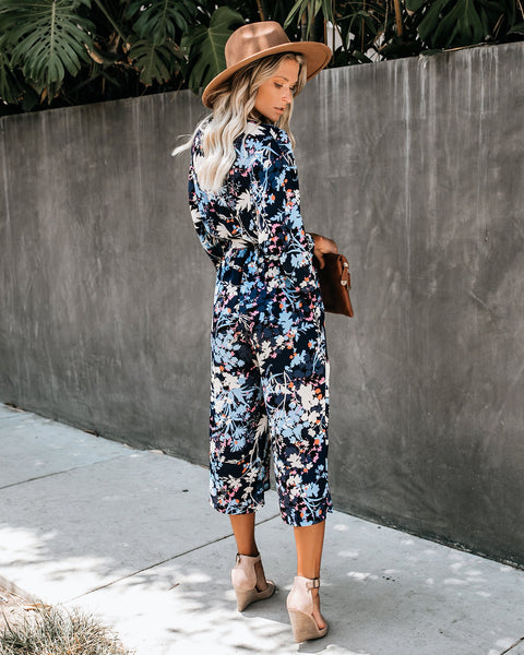 Loves Me Not Floral Pocketed Jumpsuit - FINAL SALE
