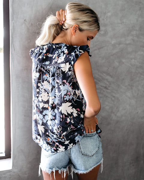 Loves Me Not Sleeveless Floral Blouse - FINAL SALE