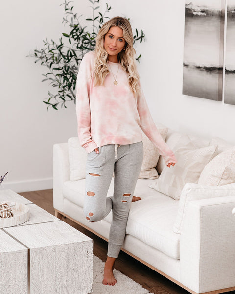 Love Song Tie Dye Soft Knit Pullover