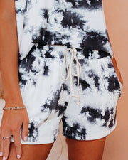 Lullaby Pocketed Tie Dye Knit Shorts