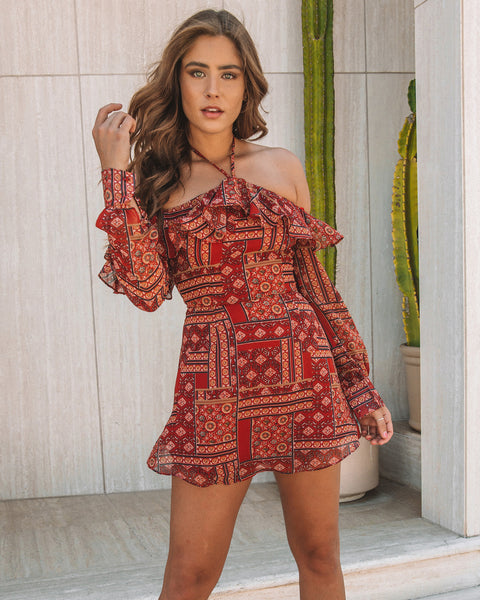 1f270f0c1bf Lumineers Paisley Halter Dress - FINAL SALE