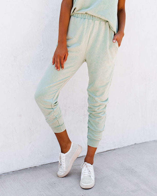 Lunar Cotton Blend Pocketed Knit Joggers