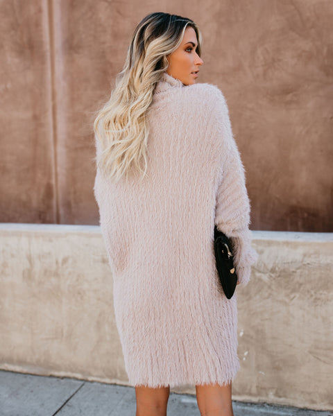 Lush Life Fuzzy Sweater Dress - FINAL SALE