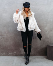 Madonna Pocketed Faux Fur Hooded Jacket