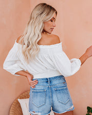 Mae Cotton Smocked Off The Shoulder Top