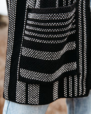 Magdalene Cotton Pocketed Cardigan - Black view 4