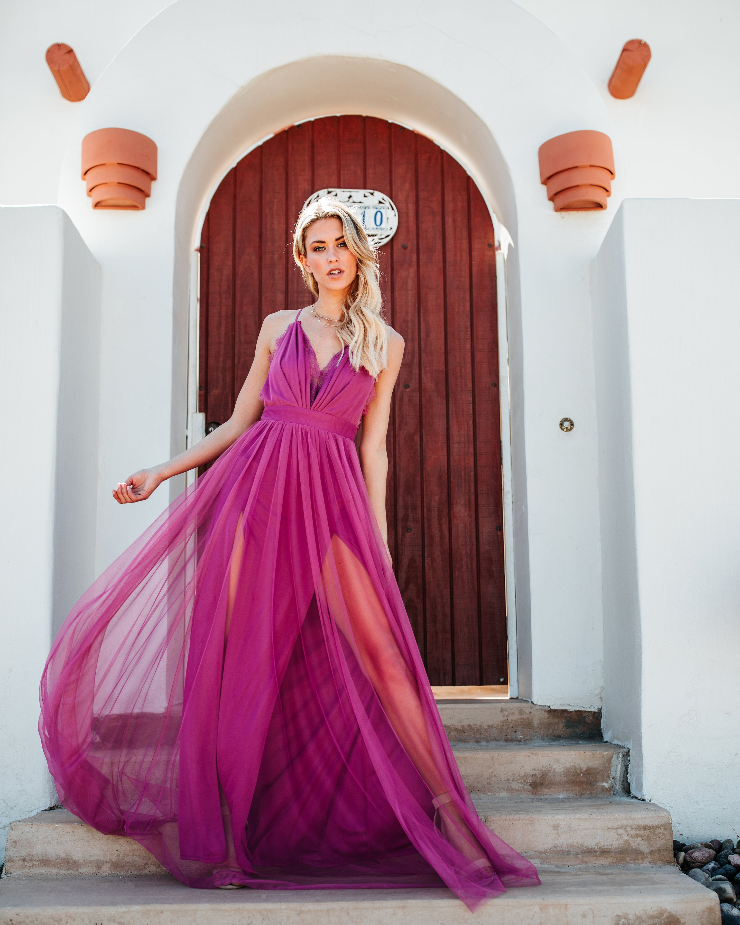 Talk Of The Town Maxi Dress - Magenta – VICI