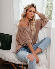 Maggie Relaxed Knit Henley Top - Mocha view 7