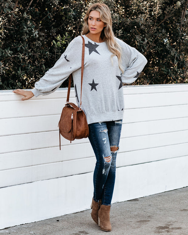 Make It Right Relaxed Knit Star Top - FINAL SALE