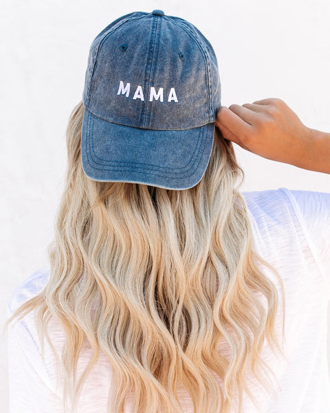 Mama Baseball Hat - Washed Navy
