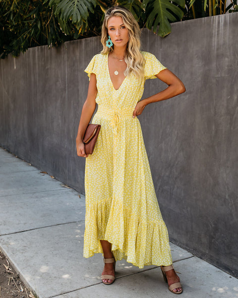 Mango Button Down Smocked Maxi Dress - FINAL SALE