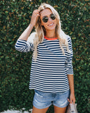 Marco Cotton Striped Top - FINAL SALE