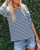 Marco Cotton Striped Top