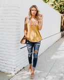 Marengo Embroidered Tank - Mustard - FINAL SALE