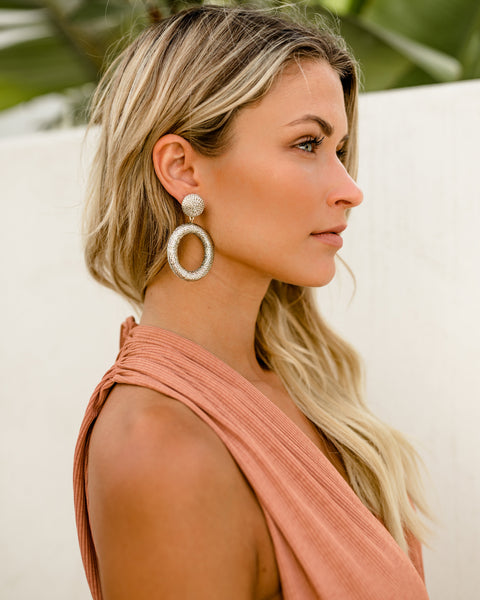 OLIVE + PIPER - Mariza Statement Hoop Earrings - Gold - SHIPPING IN 1 WEEK!