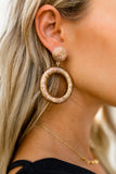OLIVE + PIPER - Mariza Statement Hoop Earrings - Rose Gold