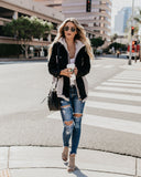 Marquette Denim + Sherpa Contrast Pocketed Jacket