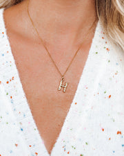 Marrin Costello - Bamboo Initial Pendant Necklace view 1