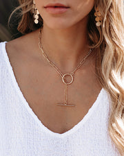 Marrin Costello – Aleah Toggle Lariat Necklace - Gold
