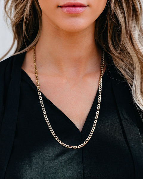 Marrin Costello - Curb Link Chain Necklace - Gold