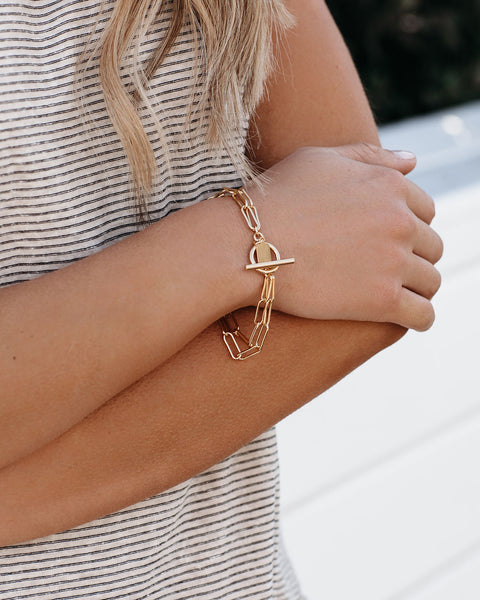 Marrin Costello – Hallie Toggle Bracelet - Gold