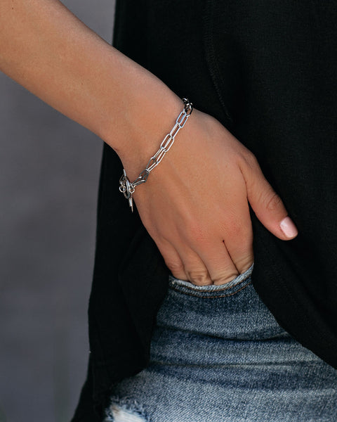 Marrin Costello – Hallie Toggle Bracelet - Silver - FINAL SALE