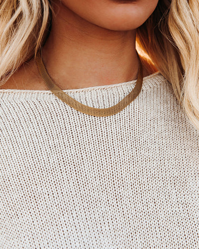 Marrin Costello - Mesh Choker - Gold