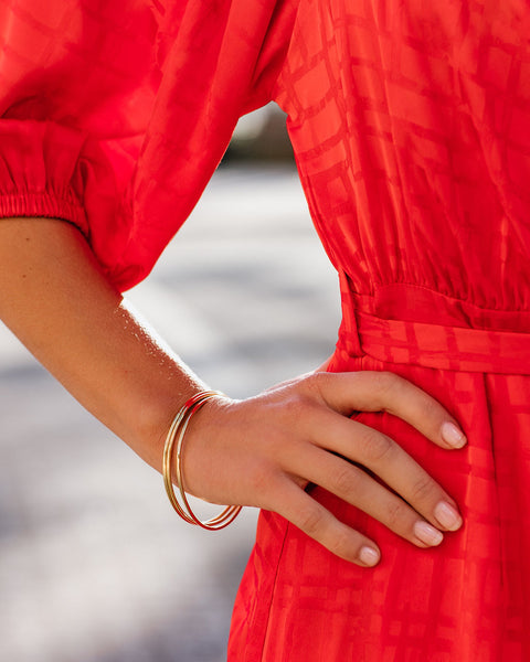 Marrin Costello – Smooth Gold Bangle Set