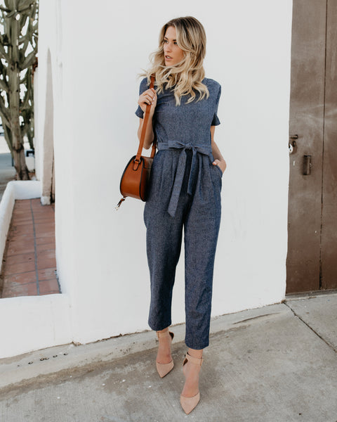 Laurent Preppy Pocketed Jumpsuit