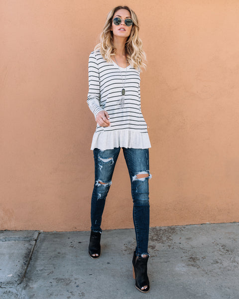 Oxford Striped Thermal Top