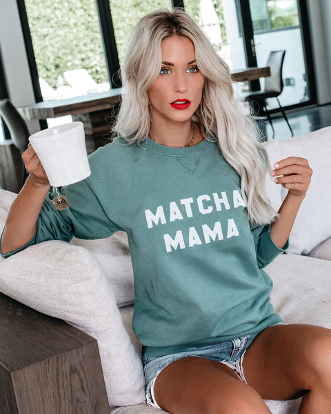 PREORDER - Matcha Mama Cotton Pullover