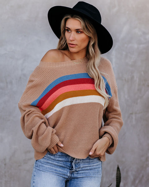 Mavis Cotton Blend Striped Sweater - FINAL SALE