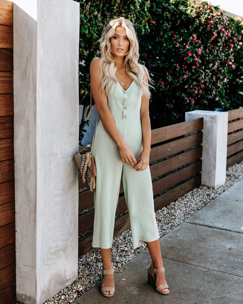 Meadow Tie Back Jumpsuit - Mint