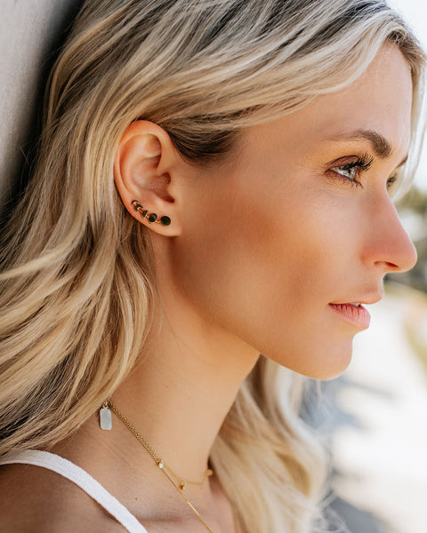 Meghan Bo Designs - Phases Of The Moon Ear Climbers - Gold