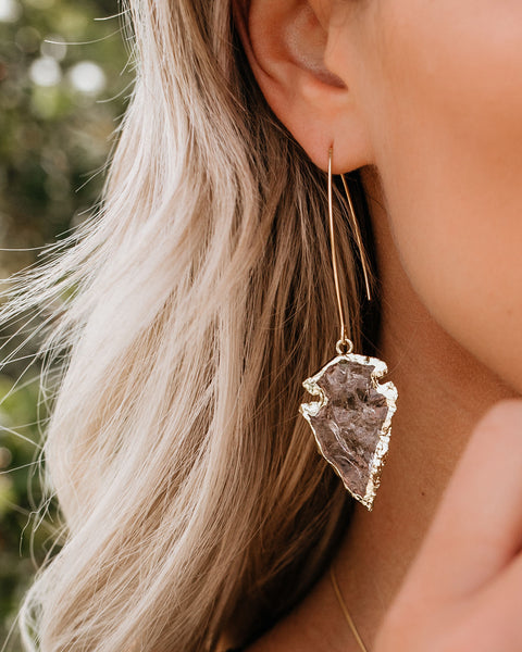 MEGHAN BO DESIGNS - Quartz Arrowhead Earrings