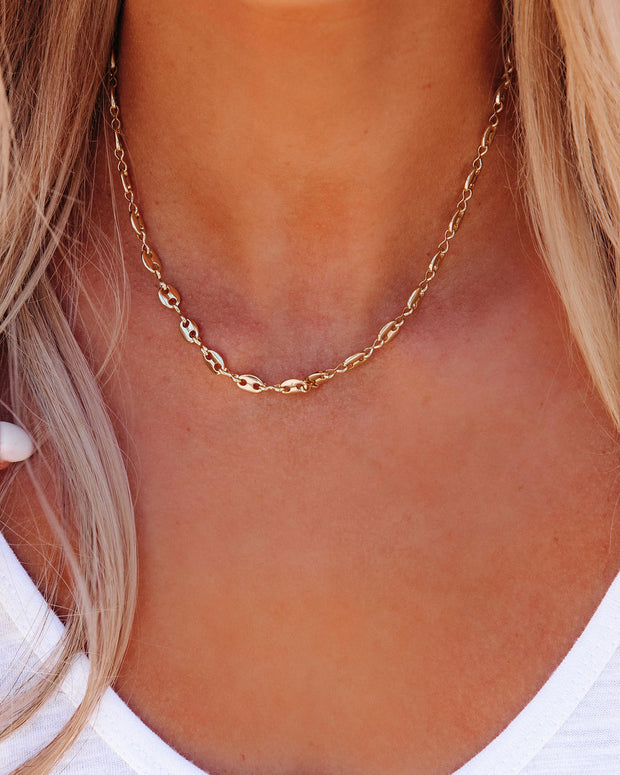Meghan Bo Designs - Shayne Gold Link Necklace view 4